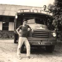 Old pictures of lorry and workers